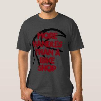 Basketball Tee- More Handles Than A Bike Shop-Grey T Shirts