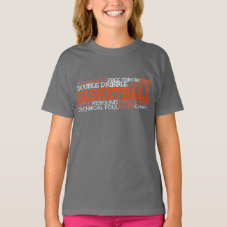 BASKETBALL TERMS WORD CLOUD Tee