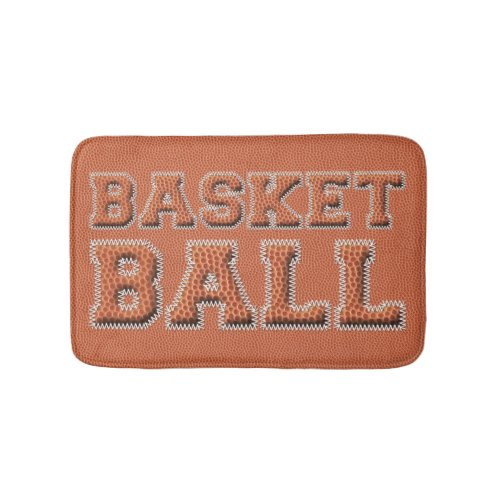 Basketball Text and Texture Bath Mat
