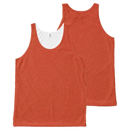 Basketball Texture Look All-Over Print Tank Top Tank Tops, Tanktops Shirts