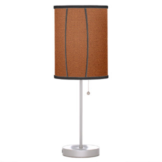 Basketball Texture Look with Lines Table Lamp