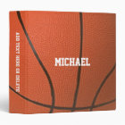 Basketball Texture Personalized Binder