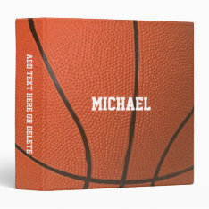 Basketball Texture Personalized Binder at Zazzle
