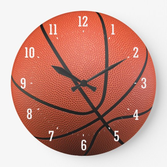 Basketball Texture | Time for Sport Large Clock