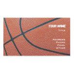 Basketball _textured_red,white,blue hoop net business card template