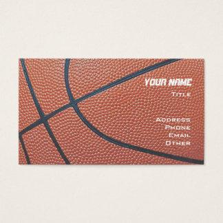 Basketball _textured_red,white,blue hoop net business card