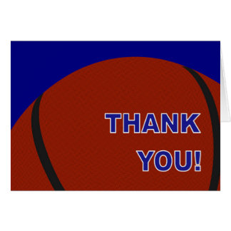 Basketball - Thank You! Card