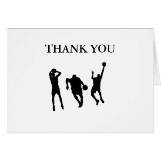Basketball Thank You Greeting Card