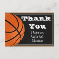 Basketball Thank You Card for B-ball Players