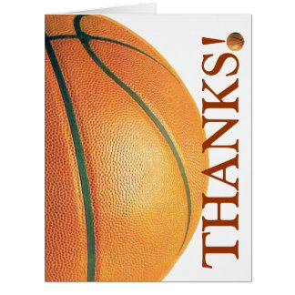 Basketball-Thank You Coach! Greeting Cards