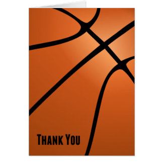 Basketball Thank You for Your Kindness Greeting Cards