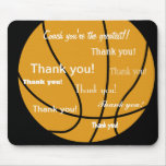 Basketball Thank You Gifts Mouse Pad