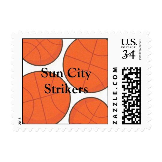 Basketball Thank-you Party Postcard Postage