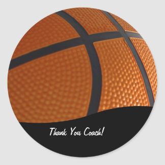 Basketball Thank You Stickers
