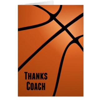 Basketball Thanks Coach Bold Design-Blank Inside Card