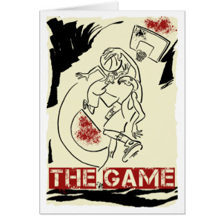 Basketball The Game Inks Black Cream Red Cards