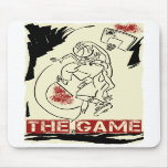 Basketball The Game Inks Black Cream Red Mousepad