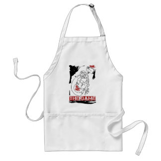 Basketball The Game Inks Black White Red Apron