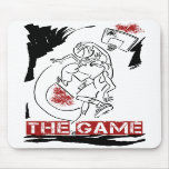 Basketball The Game Inks Black White Red Mouse Pad