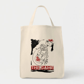 Basketball The Game Inks Black White Red Tote Bag