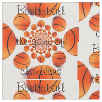 Basketball the game of Champions fabric