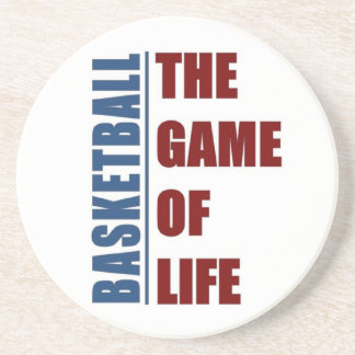 Basketball the game of life drink coaster