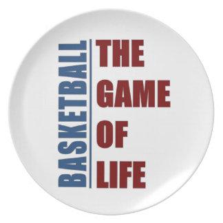 Basketball the game of life plate