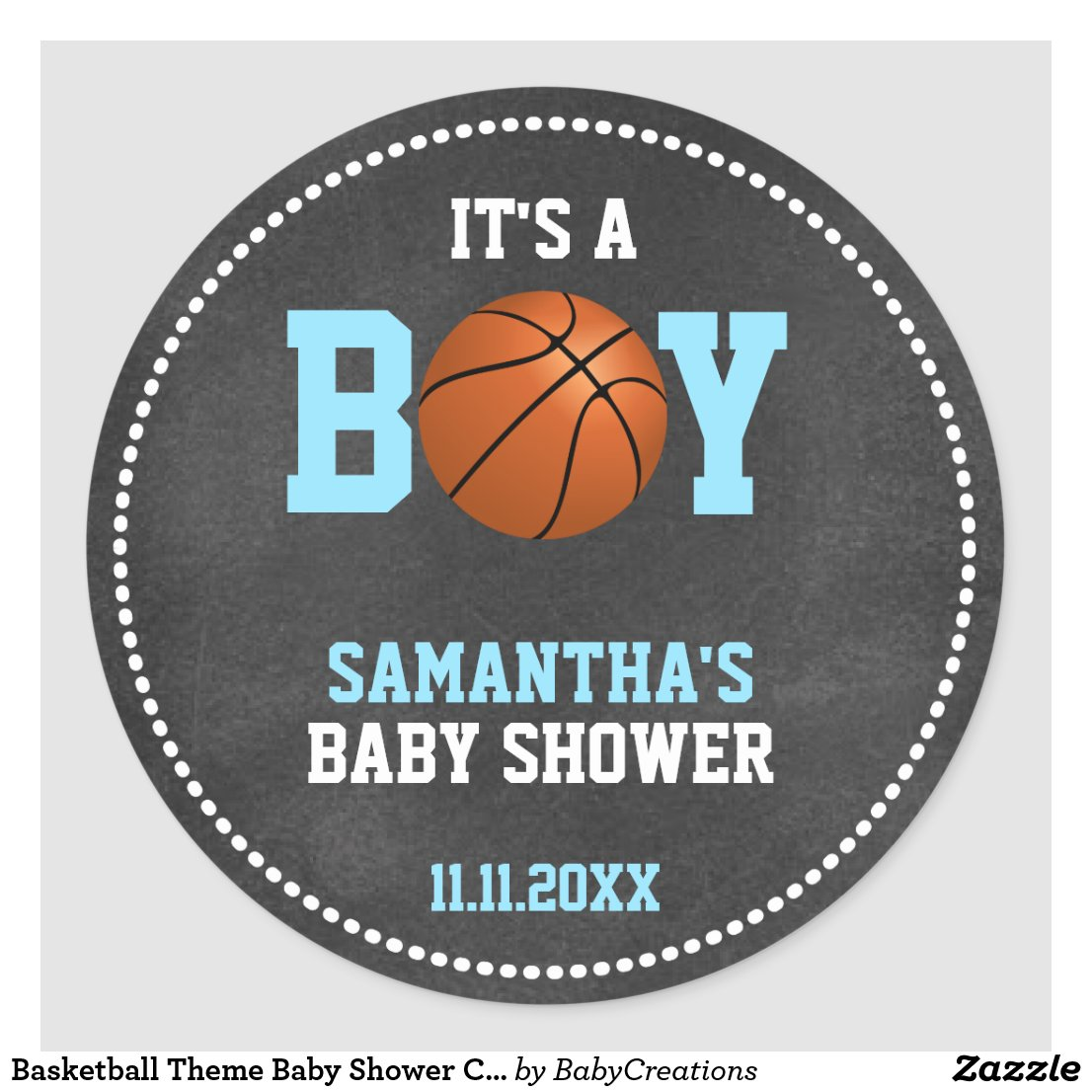 ... Basketball Theme Baby Shower Chalkboard Boy
