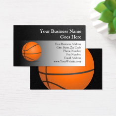 Basketball Theme Business Card at Zazzle