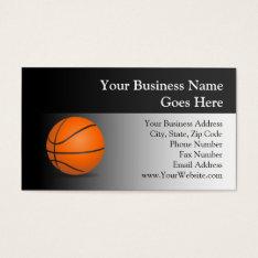 Basketball Theme Business Card at Zazzle