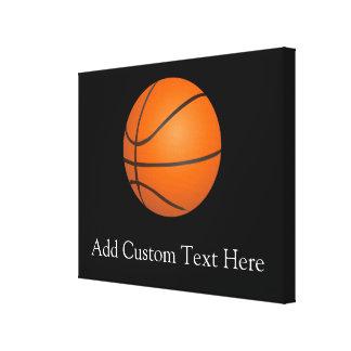 Basketball Theme Canvas Print