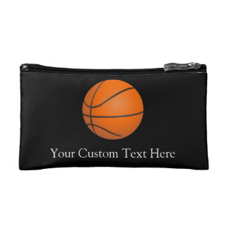 Basketball Theme Cosmetic Bag