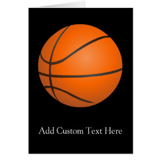 Basketball Theme Greeting Card