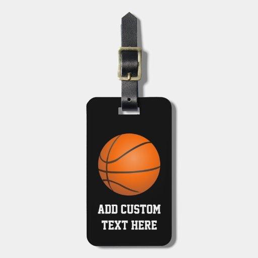 Basketball Theme Luggage Tags