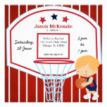 Basketball theme personalized announcement