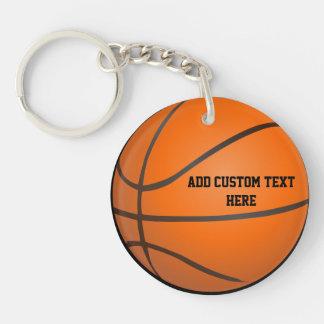 Basketball Theme Single-Sided Round Acrylic Keychain