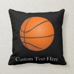 Basketball Theme Throw Pillow