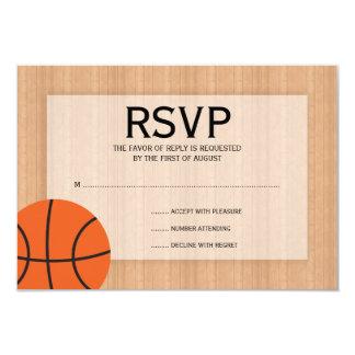 Basketball Themed Bar Mitzvah RSVP Card