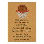 Basketball Themed Birthday Invitation
