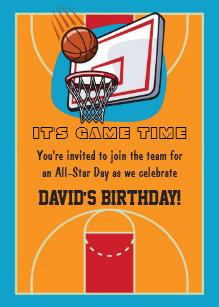 60 off basketball birthday invitations shop now to save zazzle basketball themed birthday invitations filmwisefo