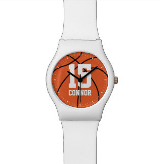 Basketball Themed Jersey Number Wristwatch