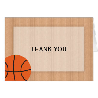 Basketball Themed Thank You Card