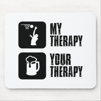 Basketball therapy designs mouse pad