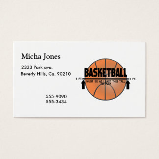 Basketball This Tall To Play Business Card