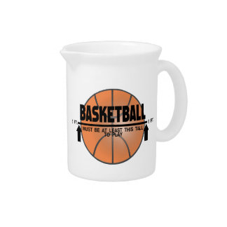 Basketball This Tall To Play Drink Pitcher