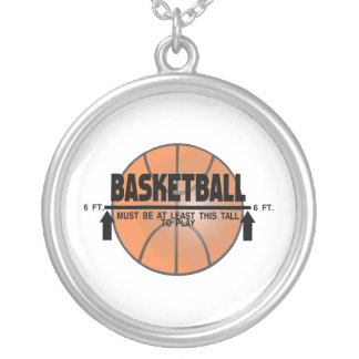 Basketball This Tall To Play Silver Plated Necklace