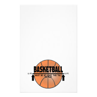 Basketball This Tall To Play Stationery
