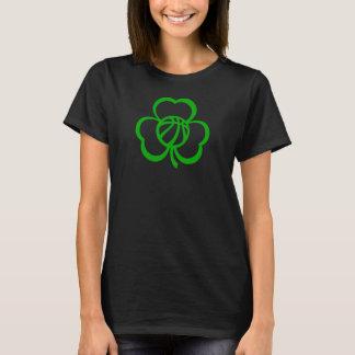 Basketball Three Leaf Clover Dark T-Shirt