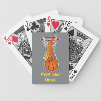 Basketball through Net: Feel the Heat Bicycle Playing Cards