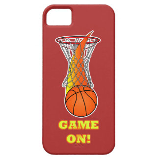 Basketball through Net: Game On iPhone SE/5/5s Case
